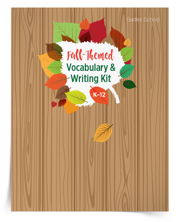 <em>Fall-Themed Vocabulary and Writing</em> Kit