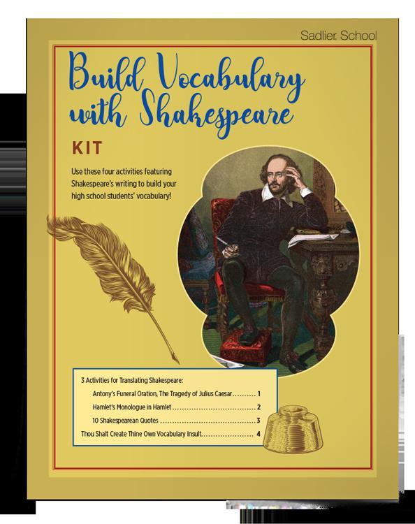 <em>Build Vocabulary with Shakespeare</em> Kit