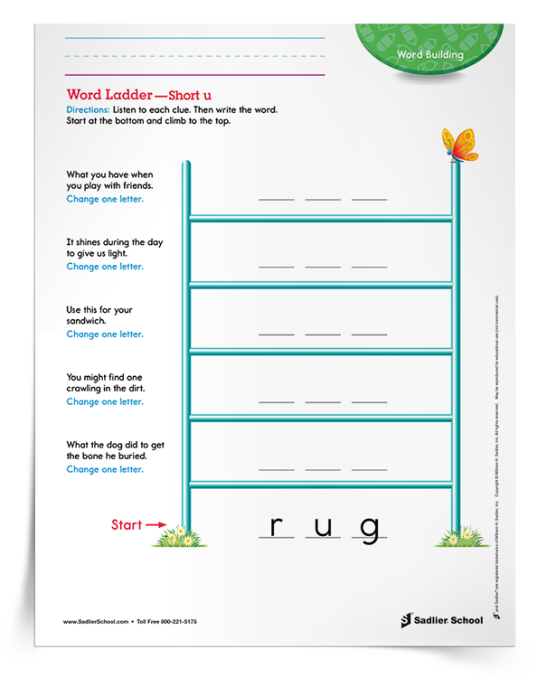 <em>Word Ladder—Short u</em> Activity