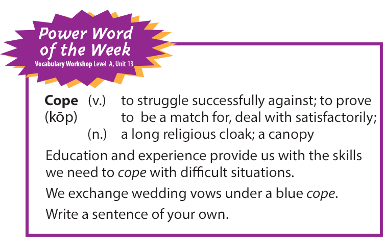 Power Word of the Week: Cope