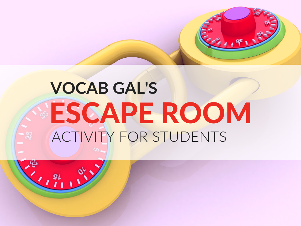 photo about Free Escape Room Printable identified as Vocab Females Clroom Escape Space [No cost Printable Match]