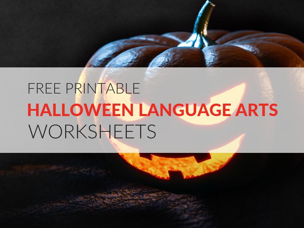 8 Printable Halloween Language Arts Worksheets