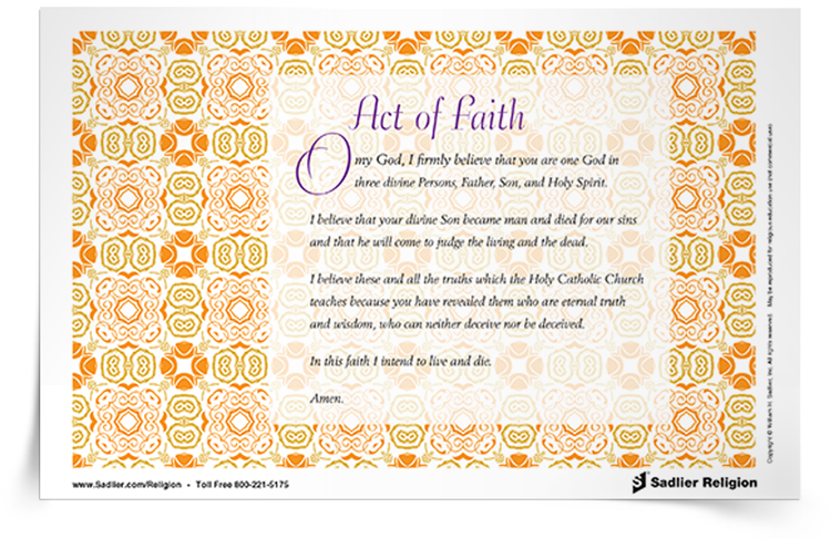 <em>Act of Faith</em> Prayer Card