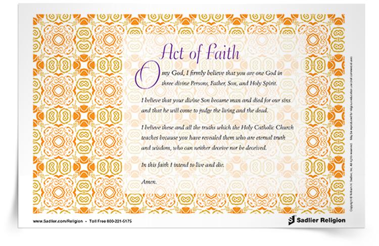 <em>Act of Faith</em> Prayer Card