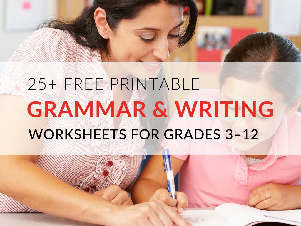 Workbooks writing grammar worksheets : 29 Printable Grammar Worksheets That Will Improve Students' Writing