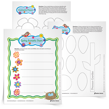 <em>Springtime</em> Grammar & Writing Activities
