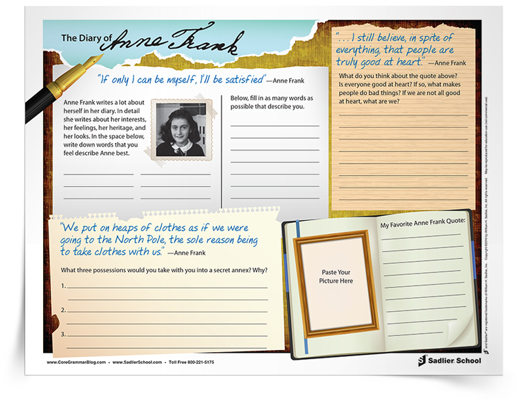 <em>The Diary of Anne Frank</em> Worksheet