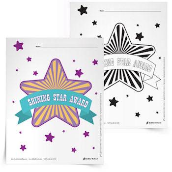 shining star award printable