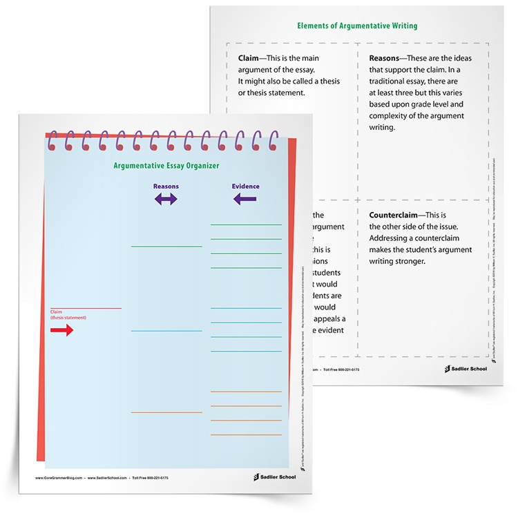 <em>Argumentative Writing</em> Graphic Organizer & Tip Sheet