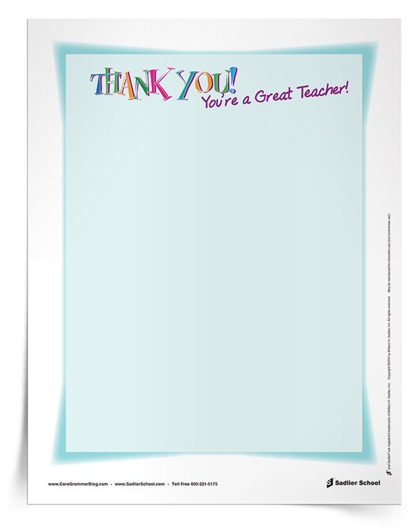 <em>Teacher Appreciation</em> Note Cards