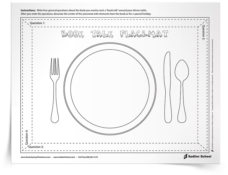 <em>Book Talk Placemat</em> Activity