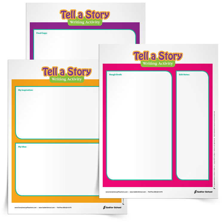 <em>Tell a Story</em> Writing Activity