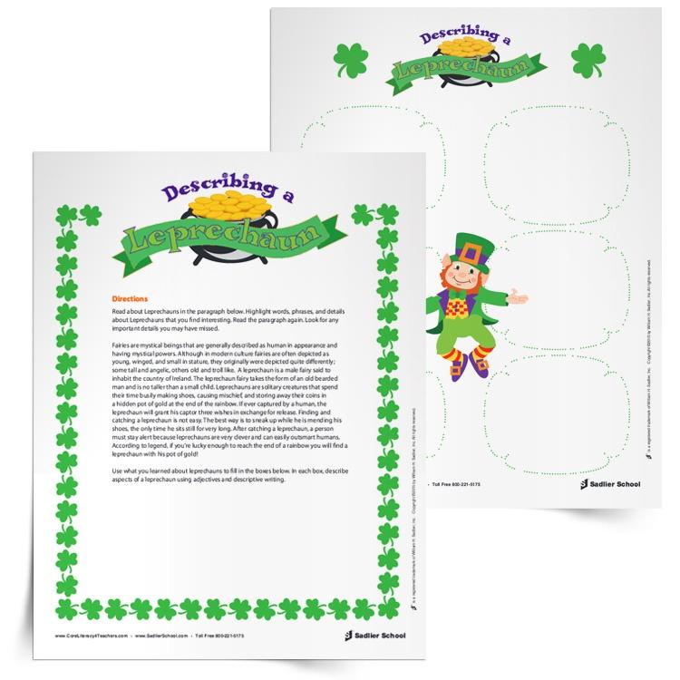 leprechaun-activities-writing-describing-a-leprechaun