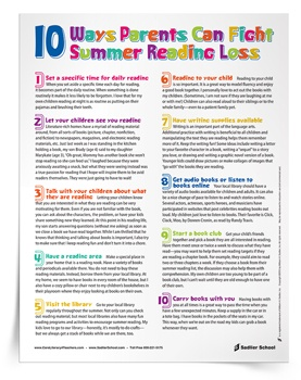 <em>10 Ways Parents Can Fight Summer Reading Loss</em> Tip Sheet