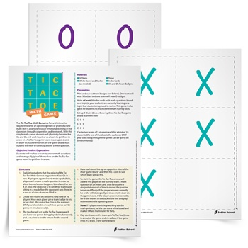 <em>Tic-Tac-Toe</em> Math Game