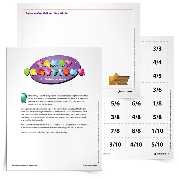 Candy Bar Fractions Activity Grades 35