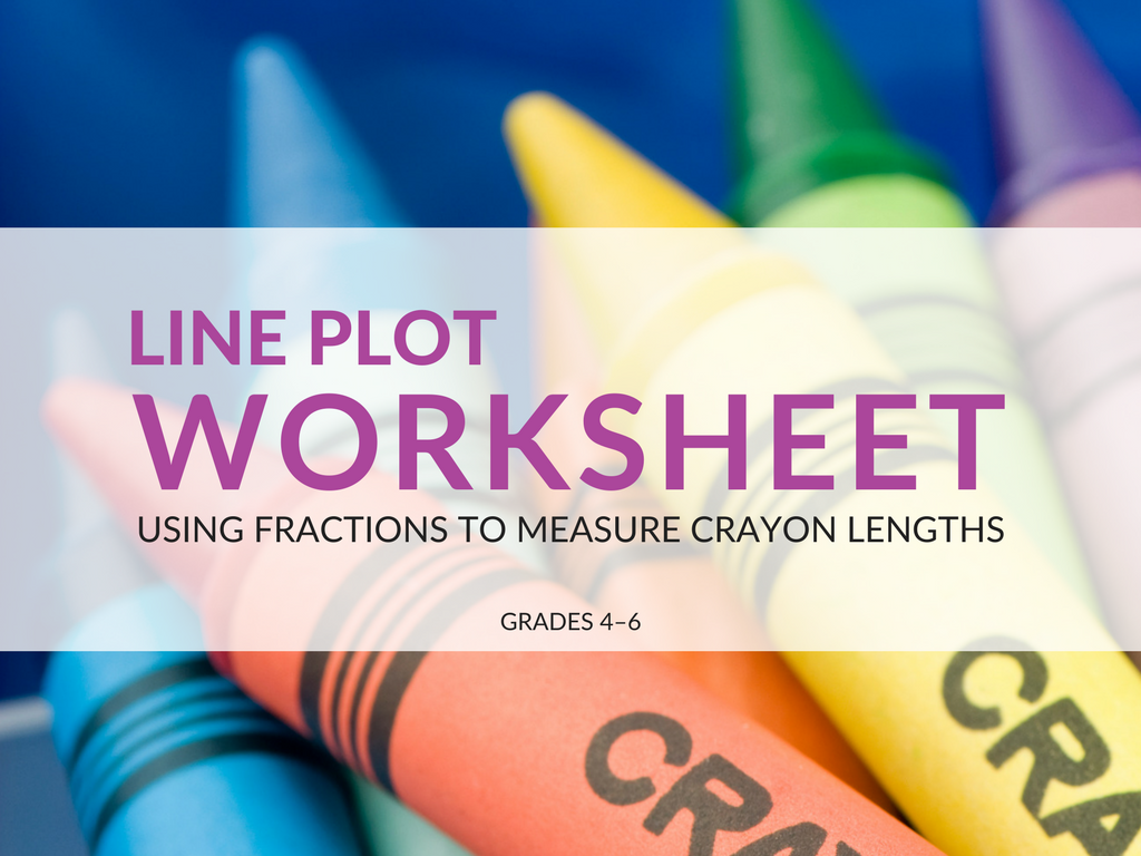 Free Line Plot Worksheet Using Fractions To Measure Crayon Lengths