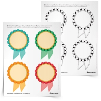 <em>Create Awards with Words</em> Vocabulary Activity