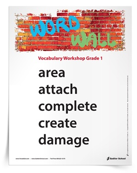 1st grade vocabulary words wall