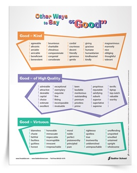 "<em>Other Ways to Say ""Good</em> Poster & Tip Sheet"