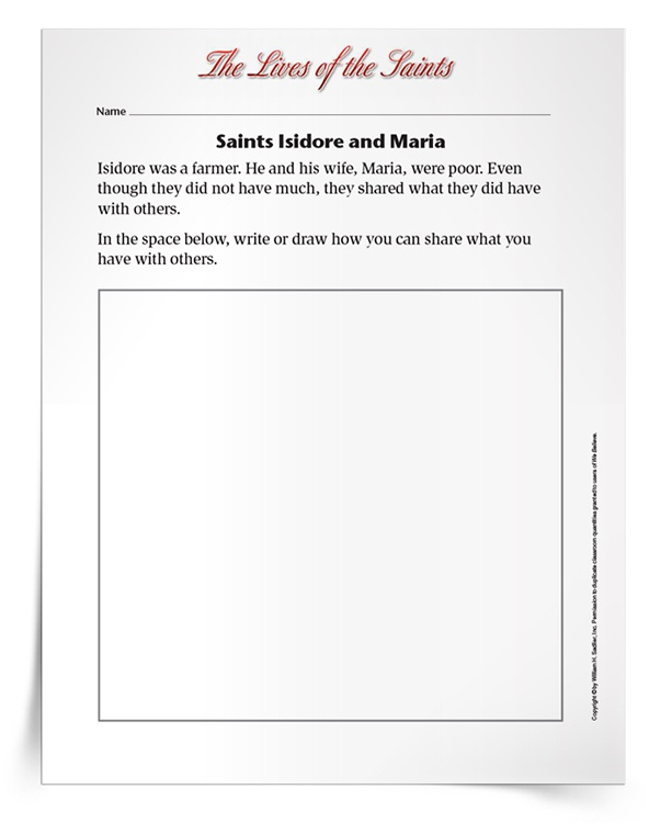 <em>Saints Isidore and Maria</em> Activity