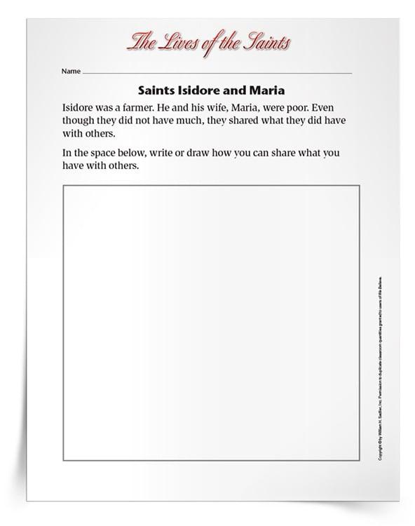 <em>Saints Isidore and Maria</em> Activity