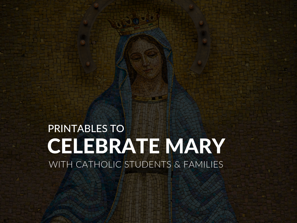 picture about Free Printable Catholic Prayer Cards identify Supplies for the Thirty day period of Mary No cost Printable Mary
