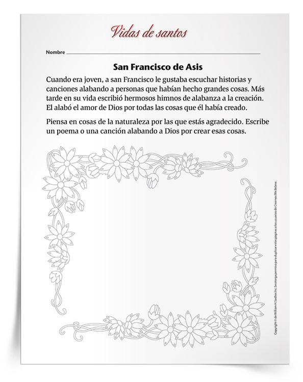 Actividad <em>San Francisco de Asís</em>