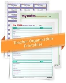 <em>Teacher Organization Printables</em> Kit