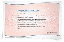 <em>Prayer for Labor Day</em> Prayer Card