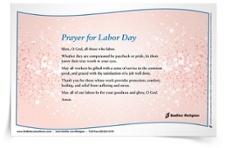 <em>Prayer for Labor Day</em> Prayer Card